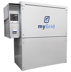 Image of myGrid 2 battery box set with DC switchbox attachment